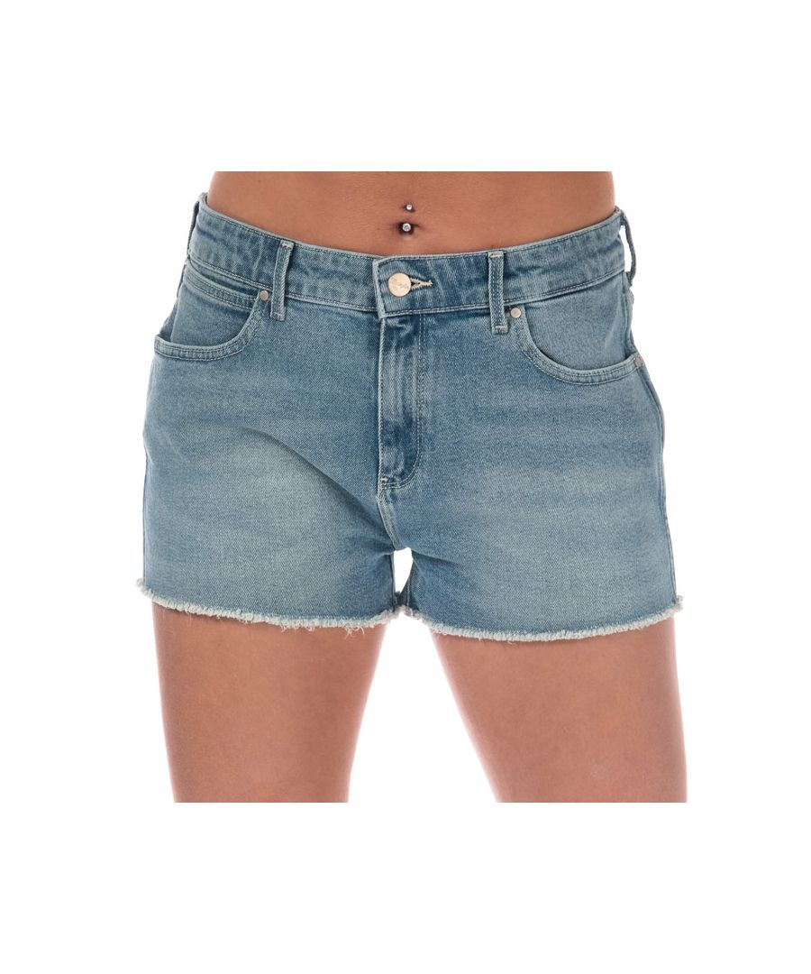 Image for Women's Wrangler Boyfriend Shorts in Denim
