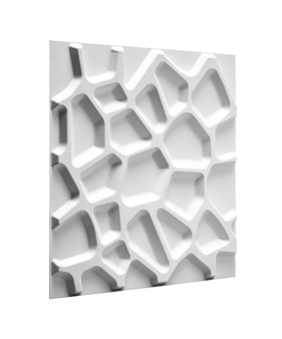 Image for W3DP0001 - Gaps Eco Friendly 3D Wall Panels Decorative Tiles - 50x50 cm - 12 Boards (for 3 sqm)