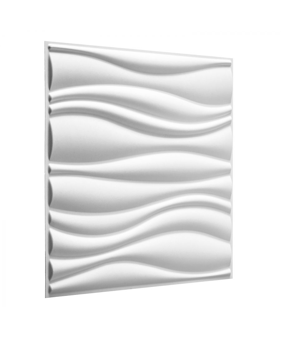Image for W3DP0004 - Waves Eco Friendly 3D Wall Panels Decorative Tiles - 50x50 cm - 12 Boards (for 3 sqm)