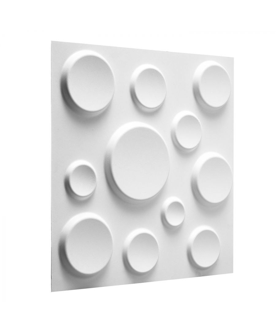 Image for W3DP0009 - Craters Eco Friendly 3D Wall Panels Decorative Tiles - 50x50 cm - 12 Boards (for 3 sqm)
