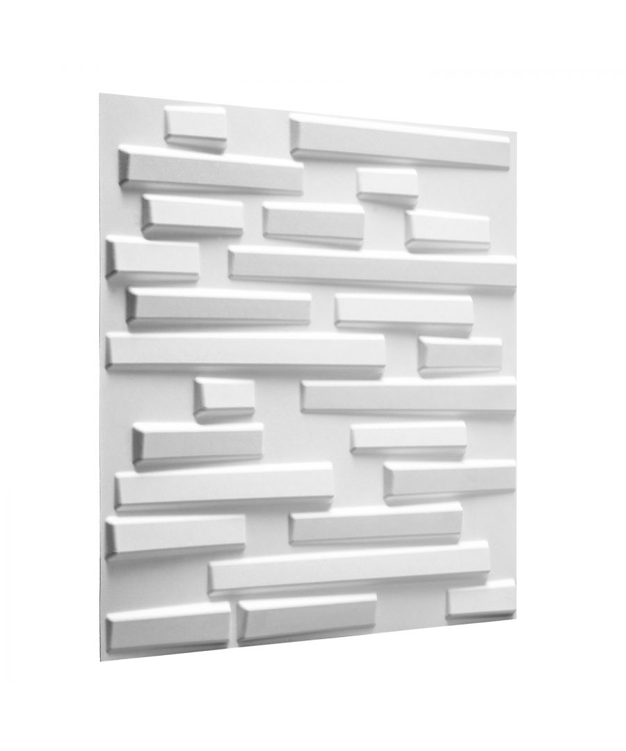 Image for W3DP0010 - Ventura Eco Friendly 3D Wall Panels Decorative Tiles - 50x50 cm - 12 Boards (for 3 sqm)
