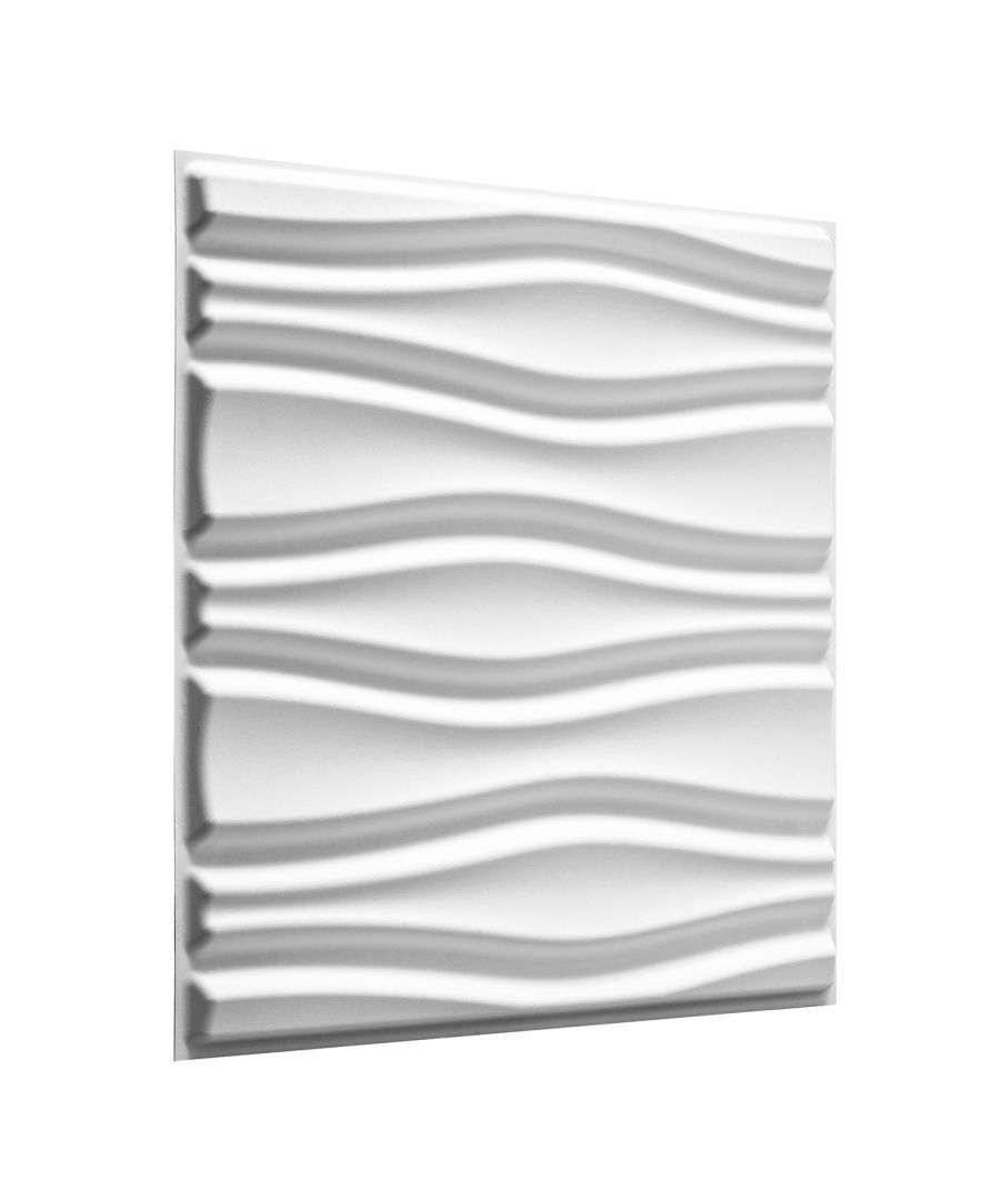 Image for W3DP0011 - Flows Eco Friendly 3D Wall Panels Decorative Tiles - 50x50 cm - 12 Boards (for 3 sqm)