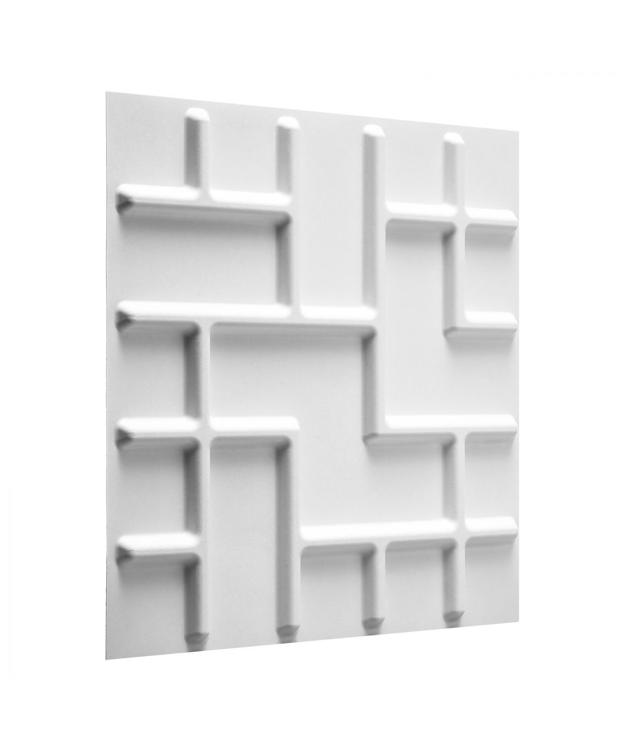 Image for W3DP0012 - Tetris Eco Friendly 3D Wall Panels Decorative Tiles - 50x50 cm - 12 Boards (for 3 sqm)