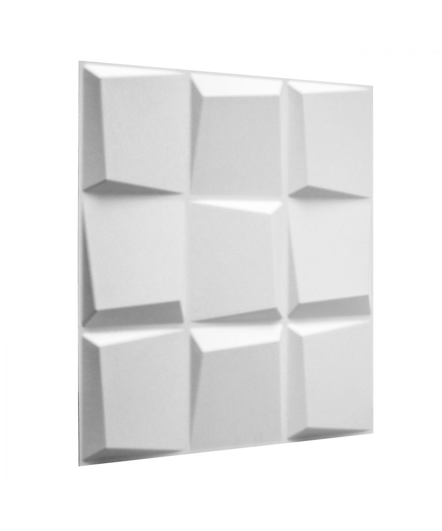 Image for W3DP0014 - Oberon Eco Friendly 3D Wall Panels Decorative Tiles - 50x50 cm - 12 Boards (for 3 sqm)