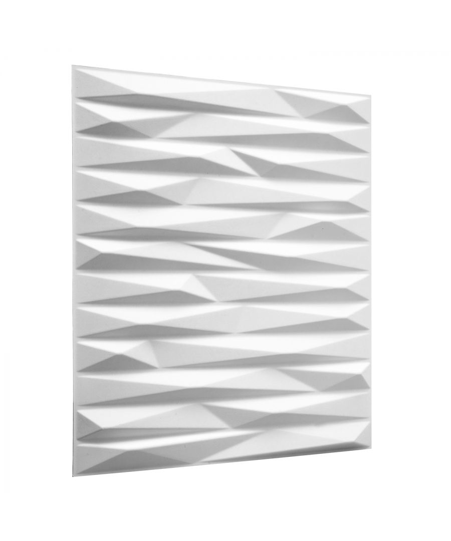 Image for W3DP0017 - Valeria Eco Friendly 3D Wall Panels Decorative Tiles - 50x50 cm - 12 Boards (for 3 sqm)
