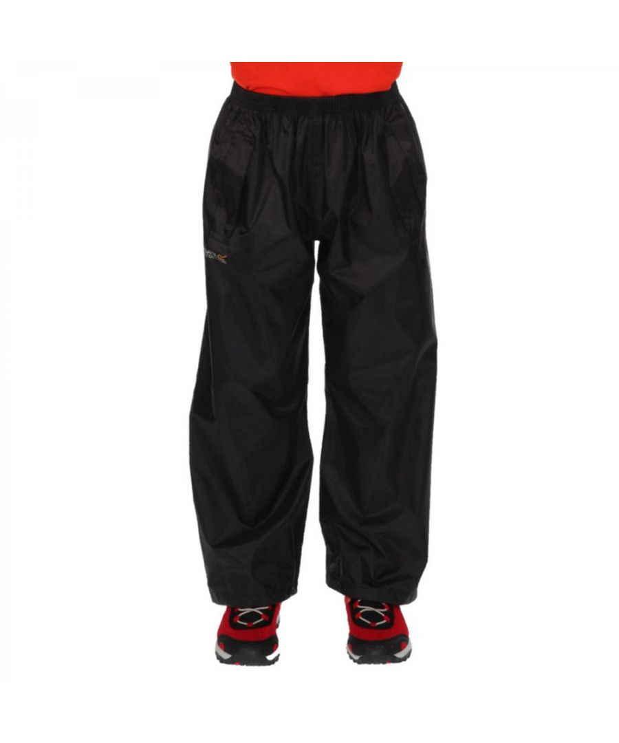 Image for Regatta Boys & Girls Kids Stormbreak Waterproof Polyester Overtrousers