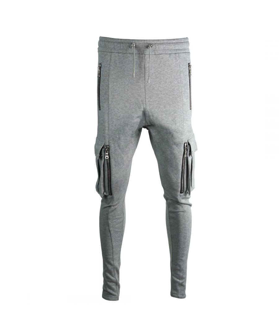Image for Balmain Multi Pocket Grey Sweat Pants
