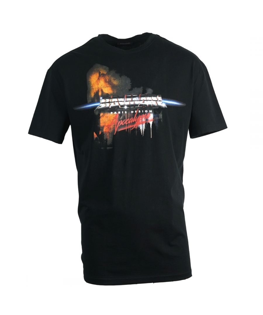 Image for Balmain Apocalypse Logo Black T-Shirt