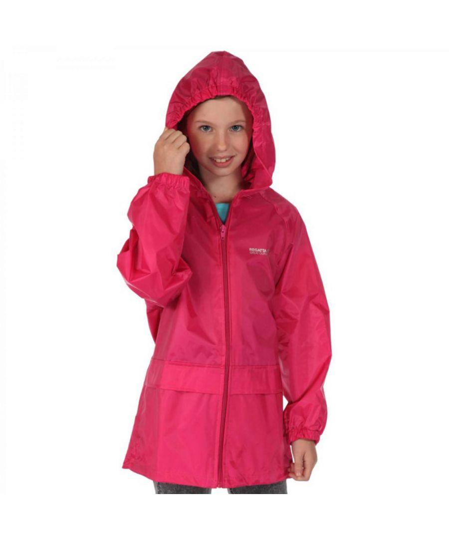 Image for Regatta Girls Kids Stormbreak Waterproof Polyester Jacket