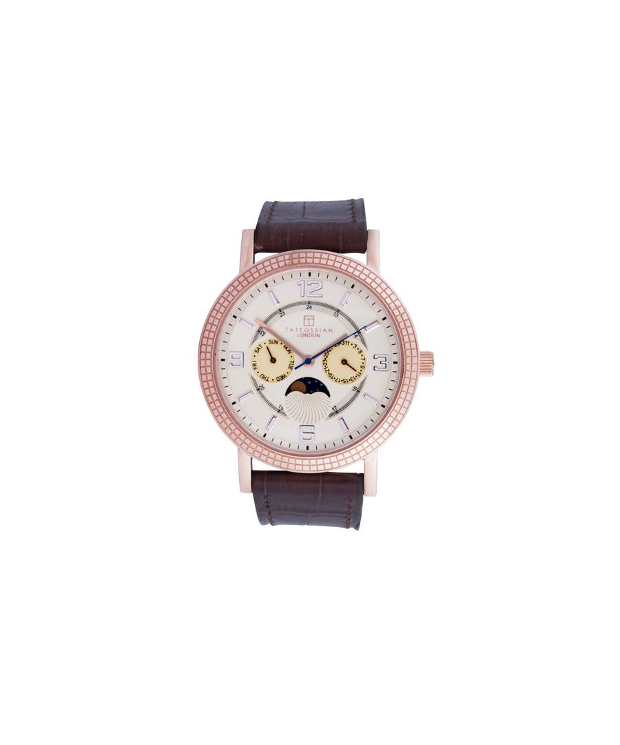 Image for Sun and Moon leather watch