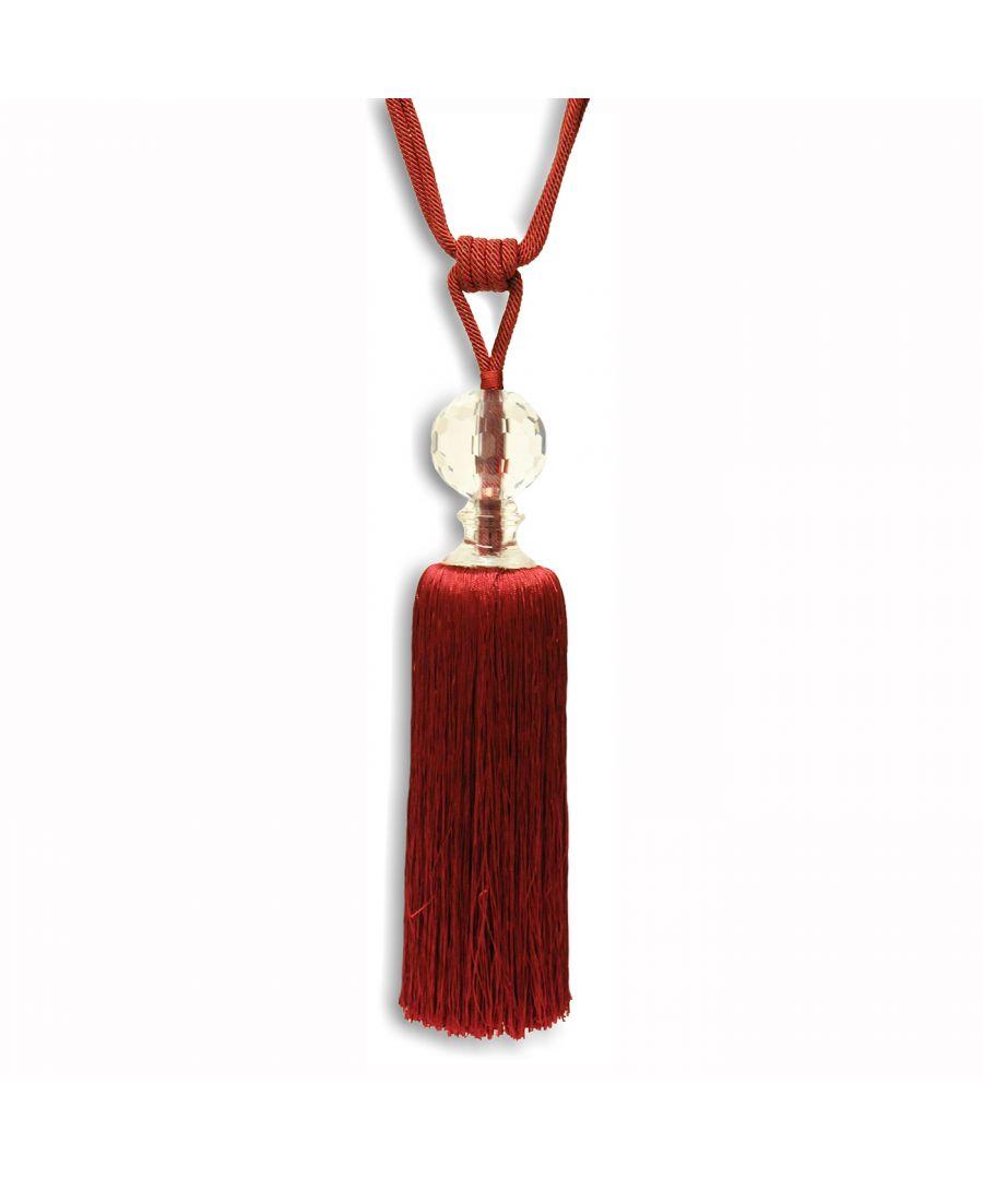 Image for Waldorf Tie Back Burgundy