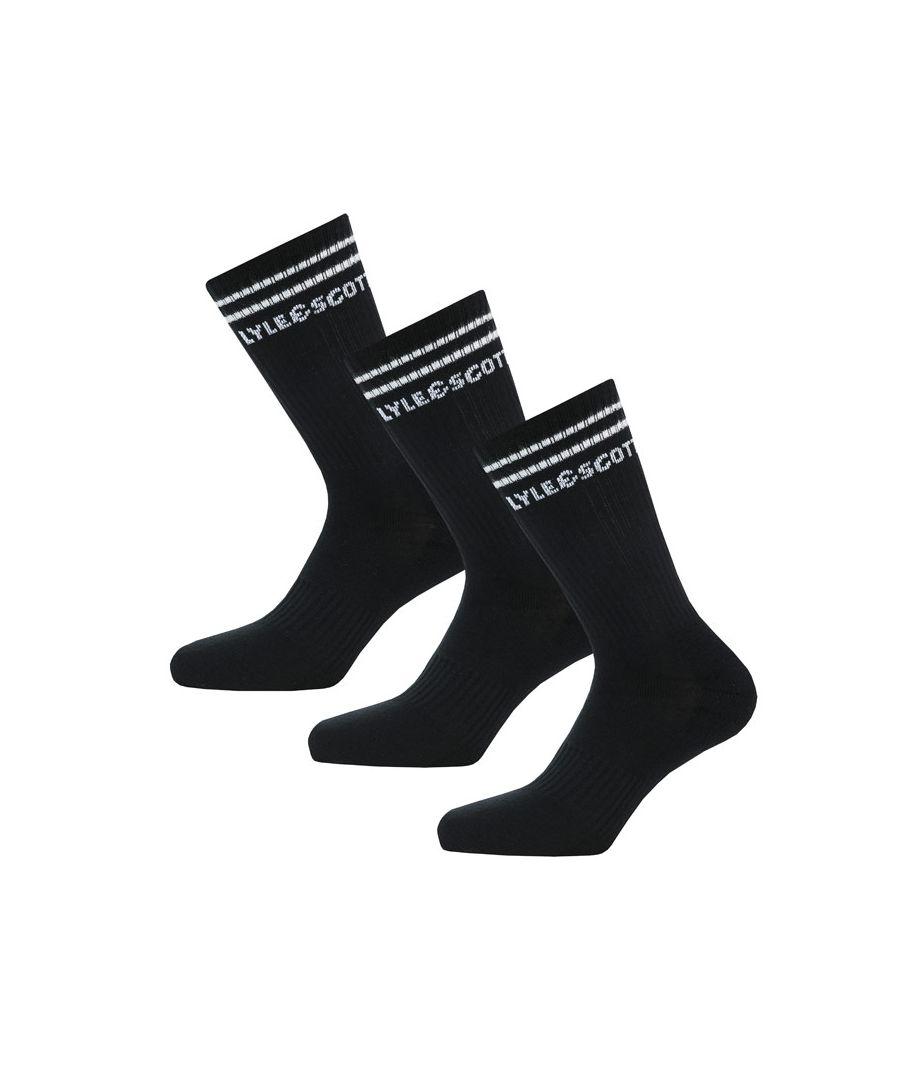 Image for Men's Lyle And Scott Walter 3 Pack Socks in Black