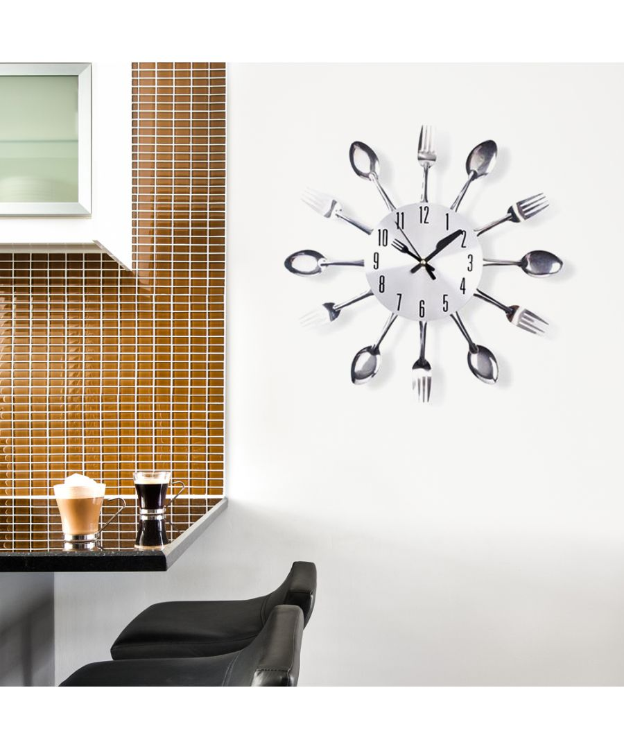 Image for Walplus Silver Home Cutlery Wall Clock