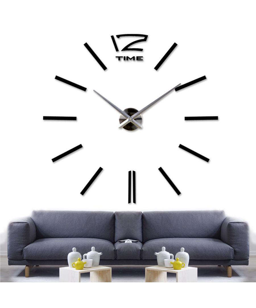 Image for Walplus Wall Sticker Giant Black Clock with Clock Mechanism