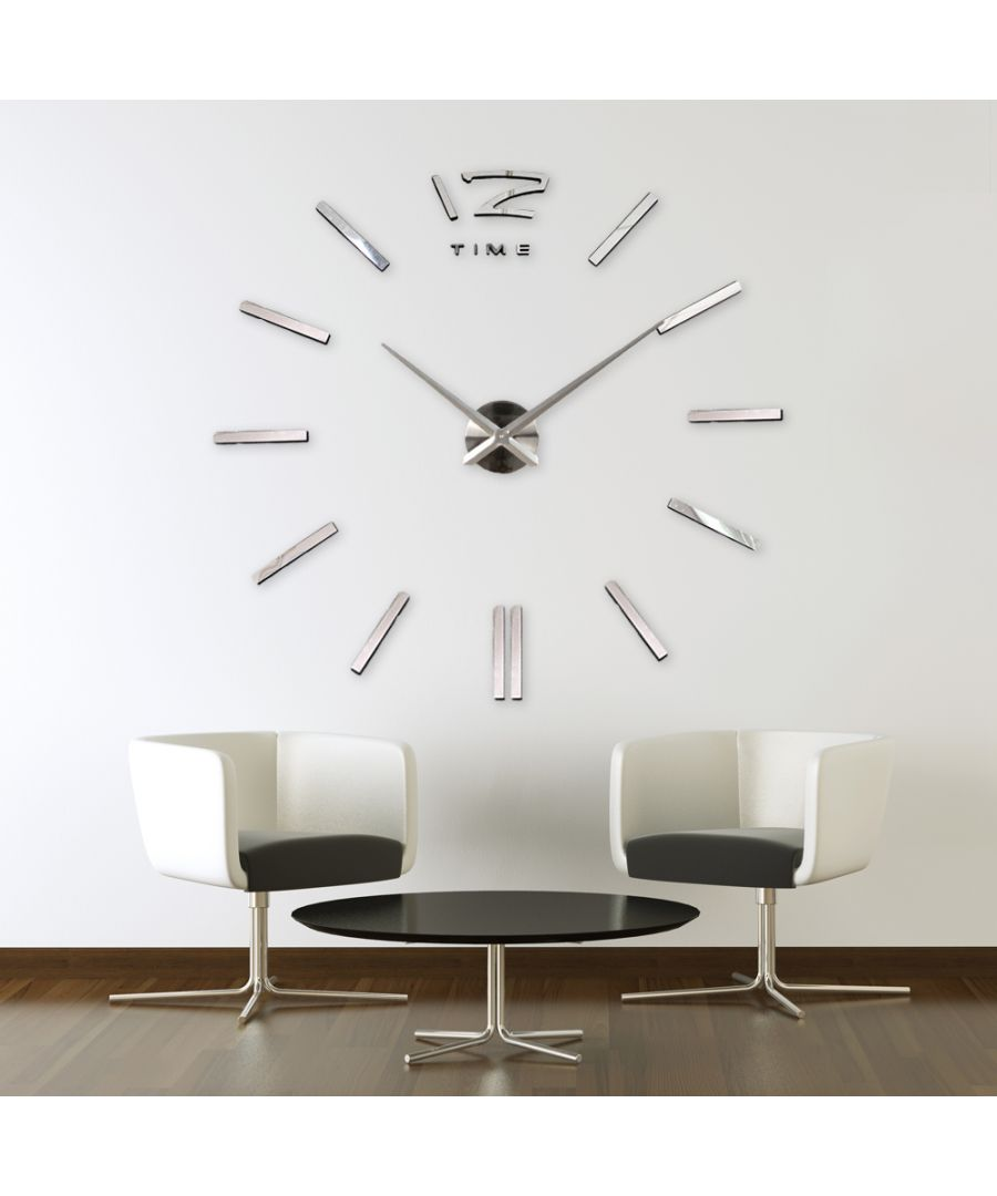 Image for WC2048 - 3D Giant Vinyl Clock Silver