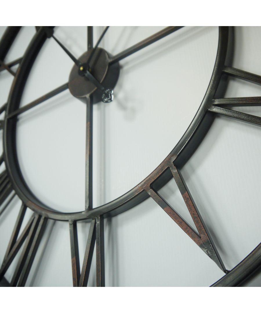 Image for Walplus Roman Number Iron Wall Clock (76cm Diameter)