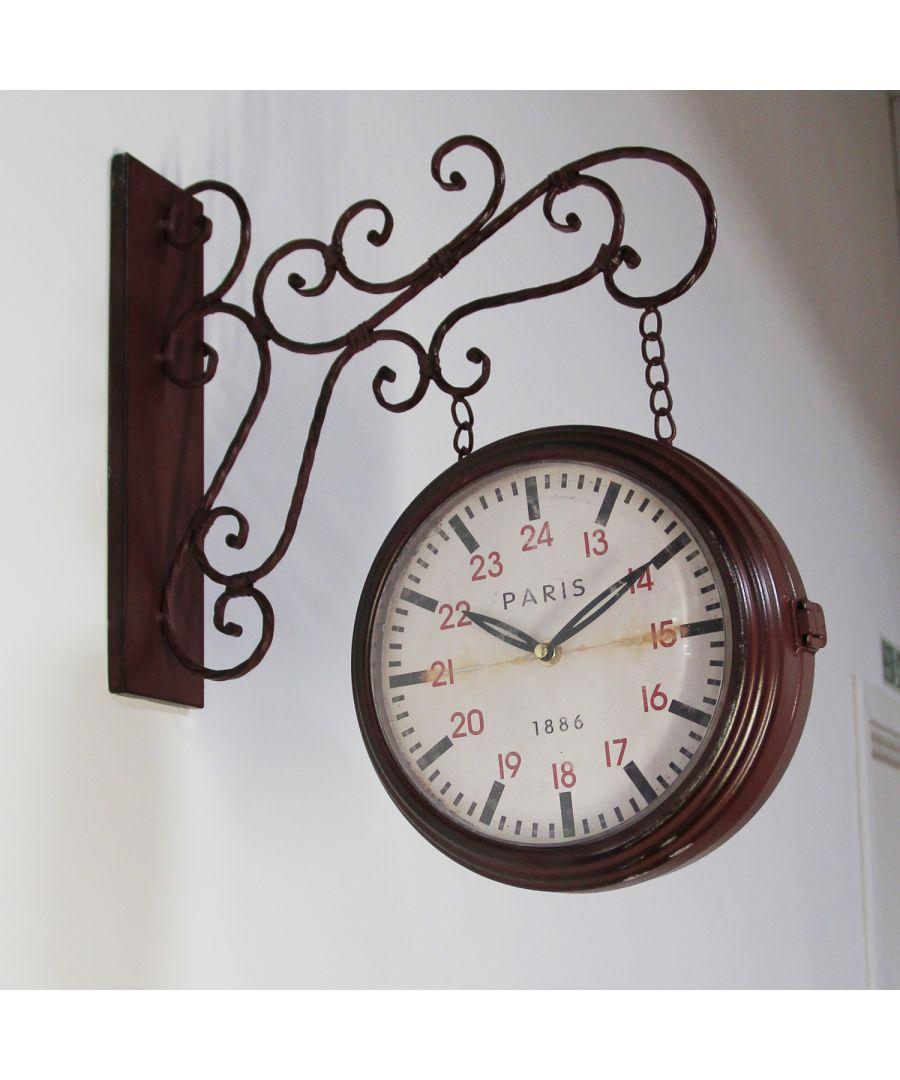 Image for Walplus Vintage Iron Garden Wall Clock