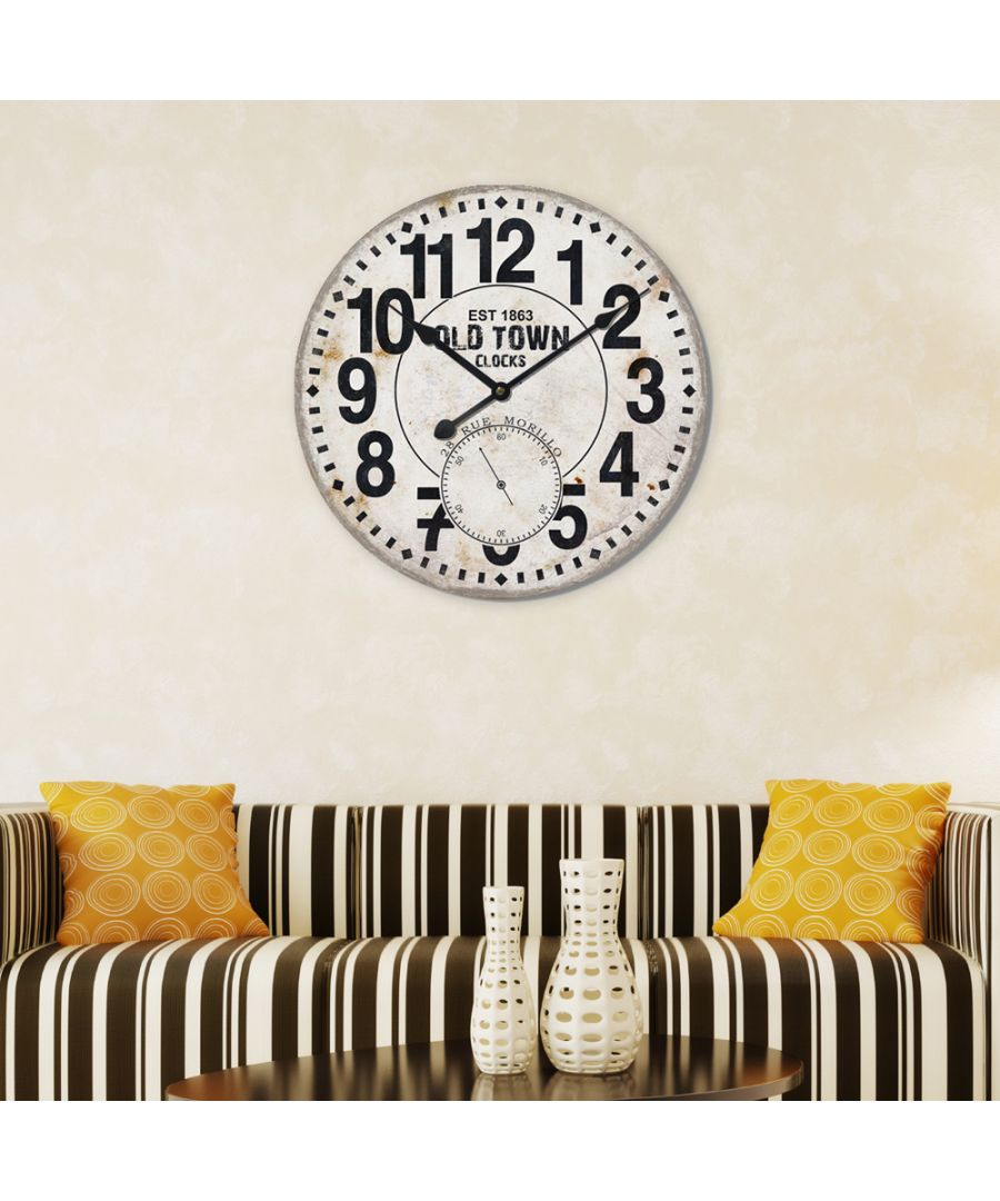Image for Walplus MDF Huge Wall Clock (60cm Diameter)