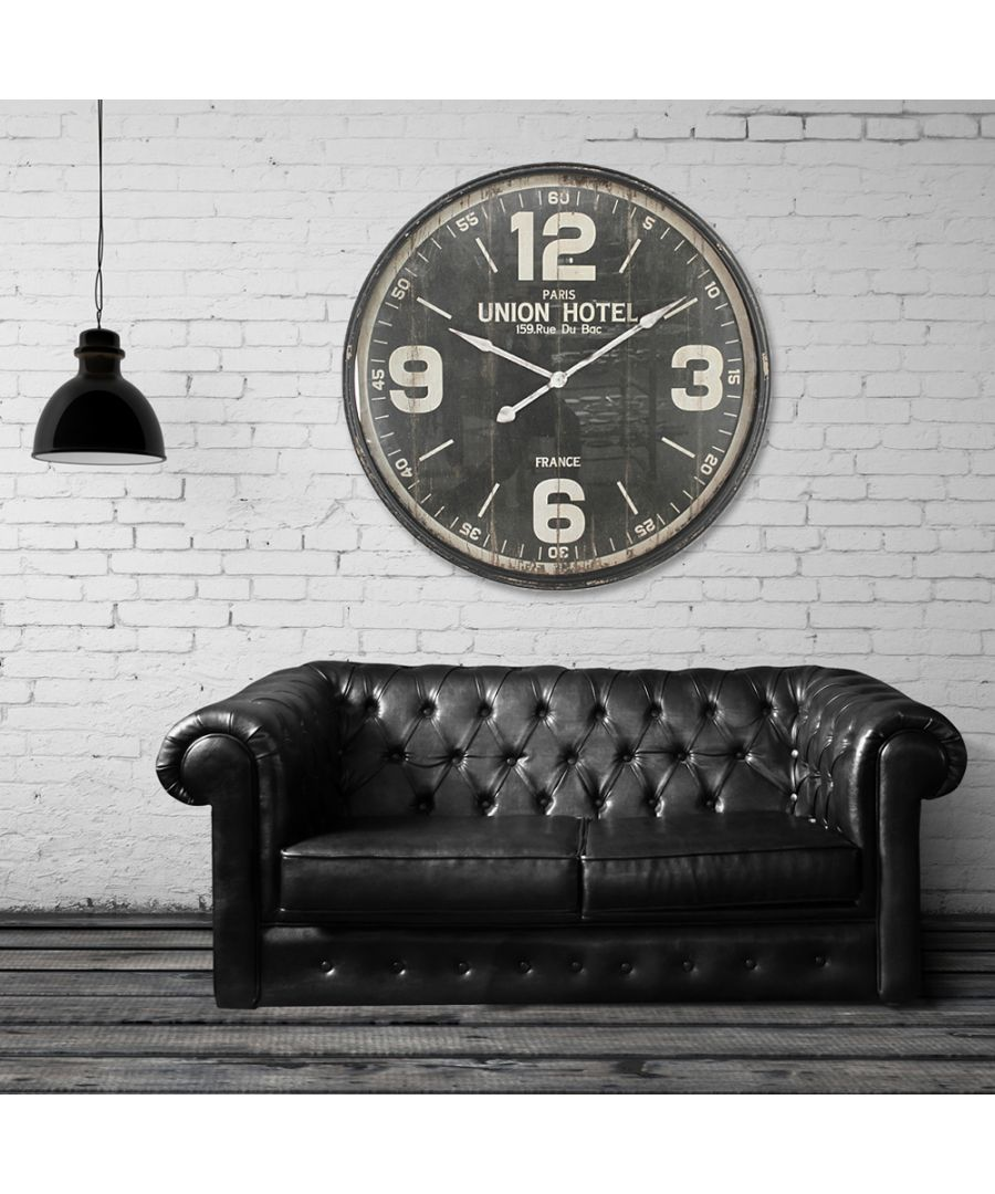 Image for Walplus Iron Huge Wall Clock (90cm Diameter)