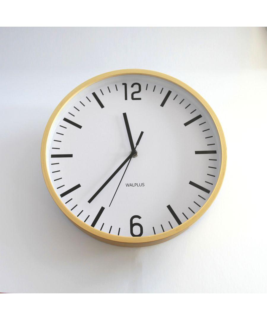 Image for Walplus Scandinavian Hygge Timber 26cm Wall Clock