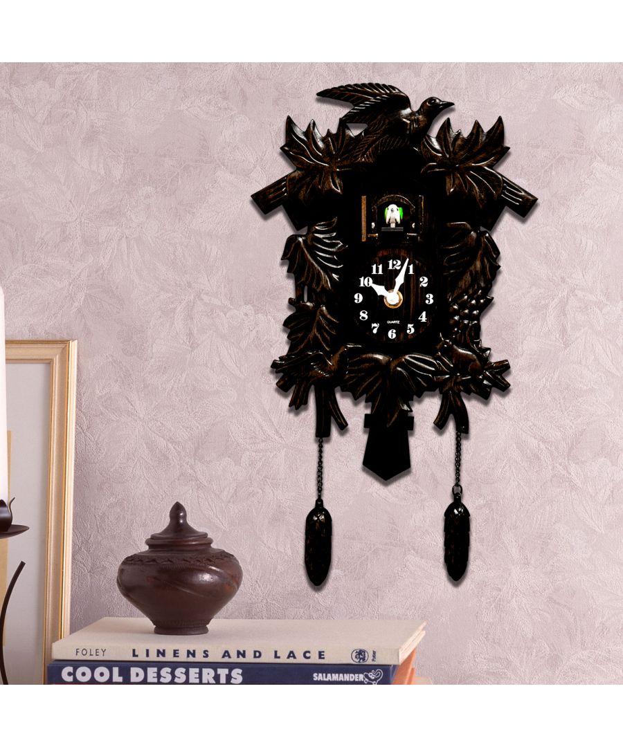 Image for Walplus Antique Hamburg Black Forest Cuckoo Bronze Wall Clock