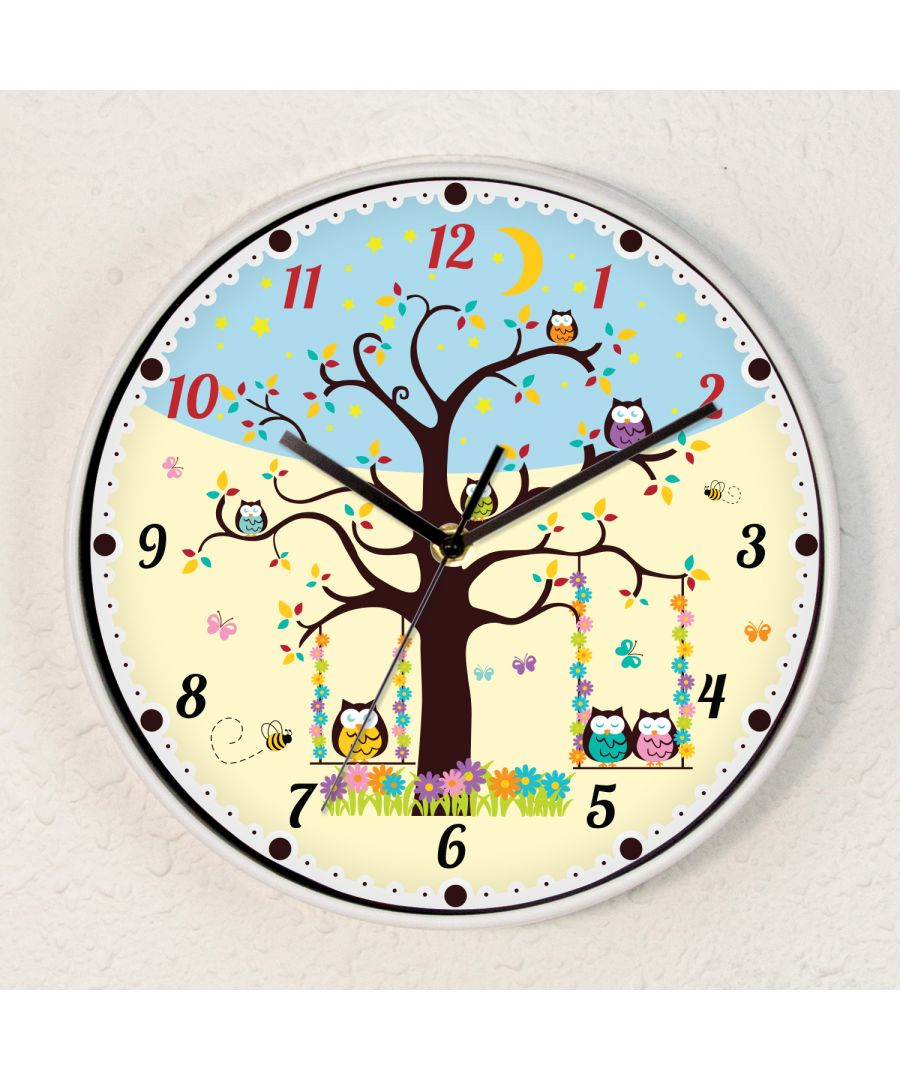 Image for Boys or Girls Room Kids Sleepy Owls Children Wall Clock