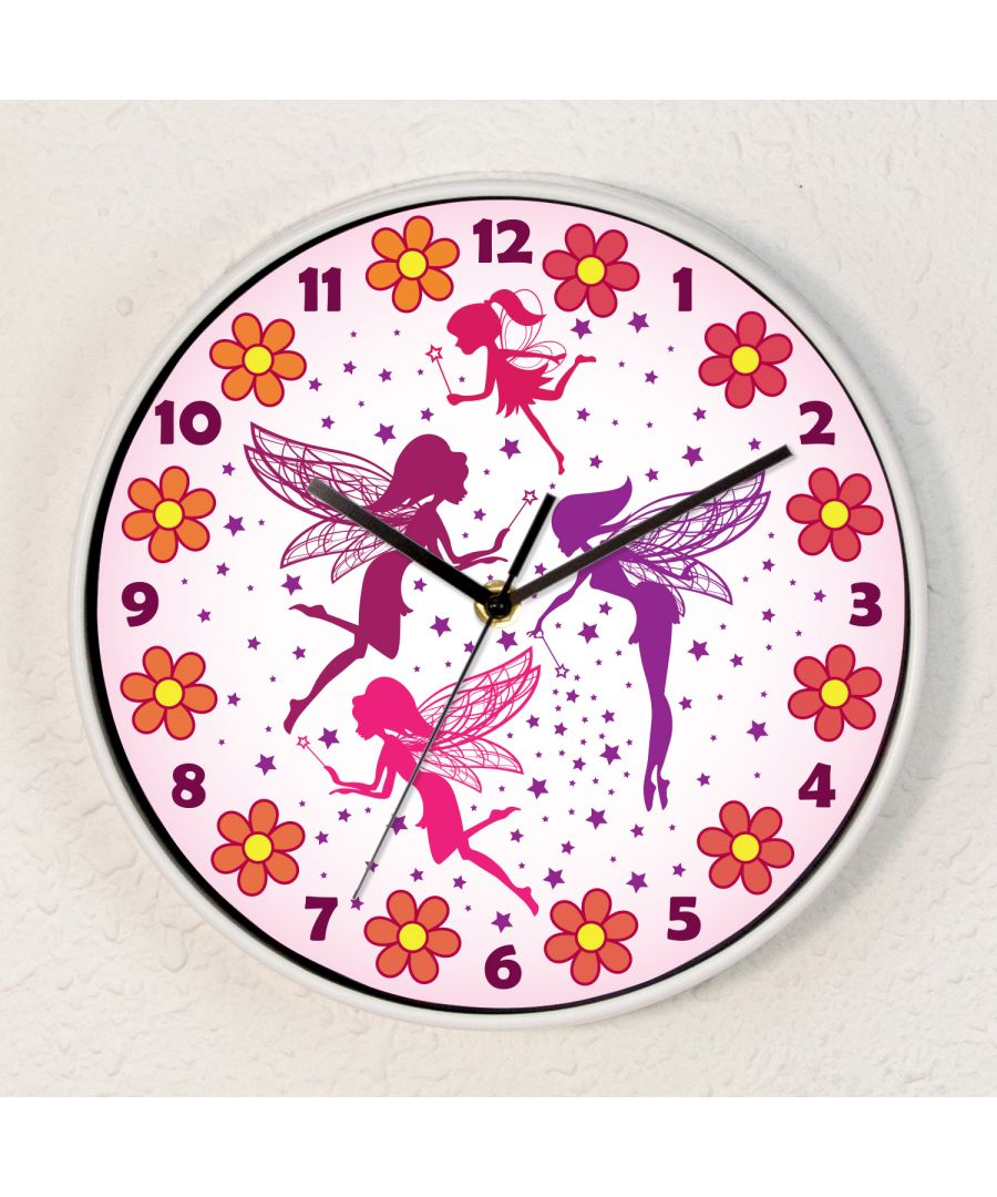 Image for Magic Fairies Children Wall Clock Kids Gilrs Room