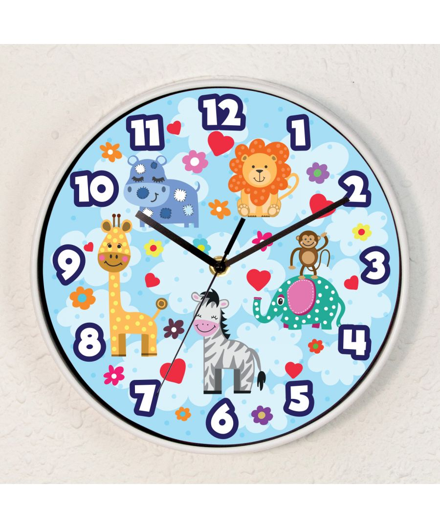 Image for Happy Animals Children Wall Clock Kids Room