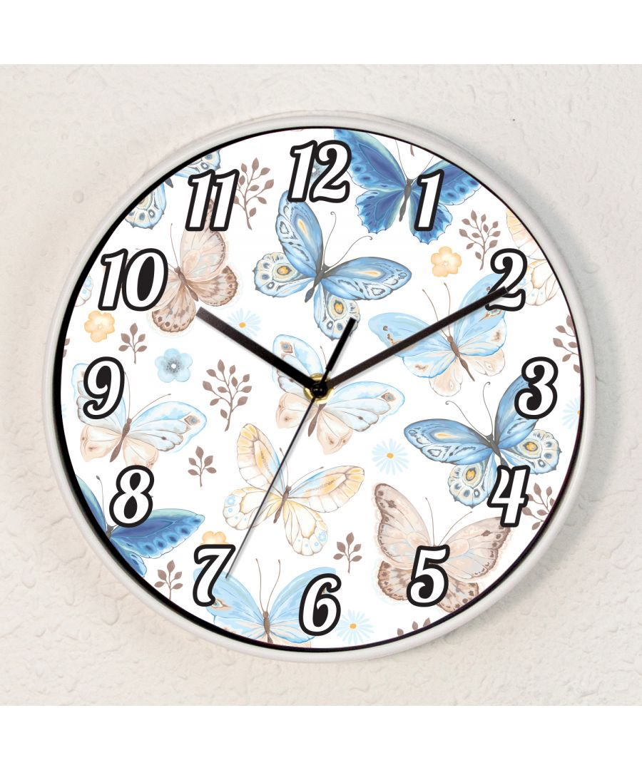 Image for Vintage Butterflies Baby Girls Room Children Wall Clock
