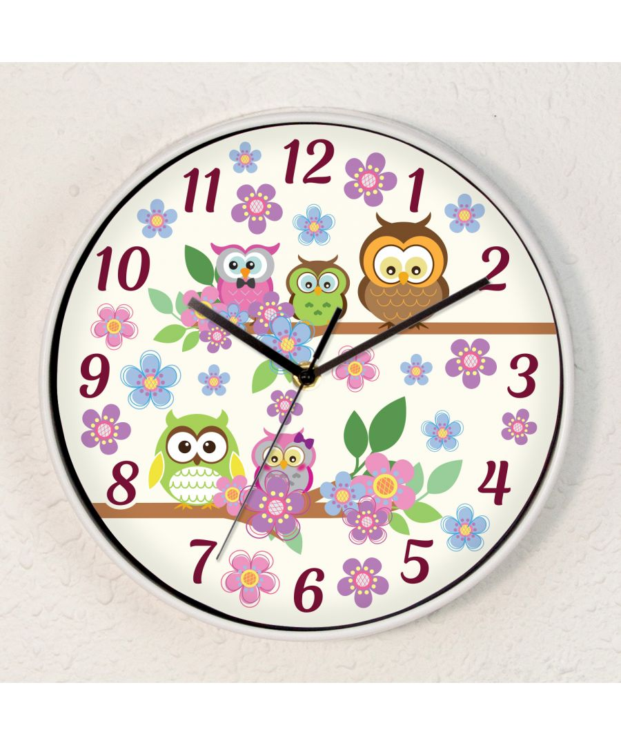 Image for Curious Owls ChildrenWall Clock Kids Room