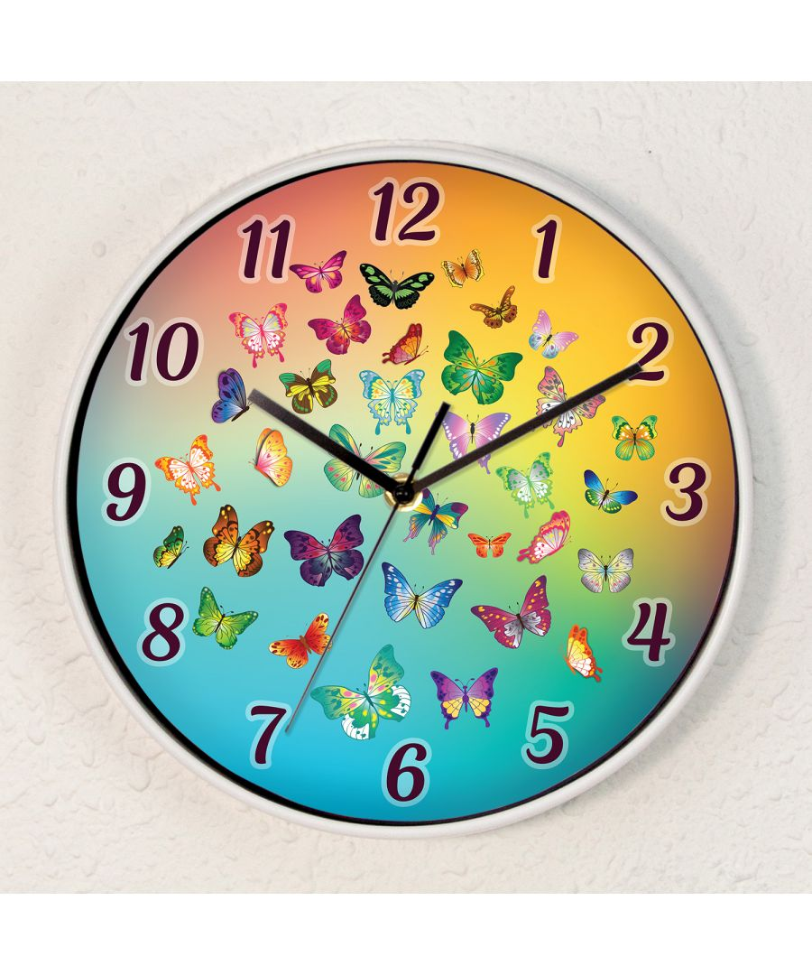 Image for Butterfly Dream Children Wall Clock Kids Room