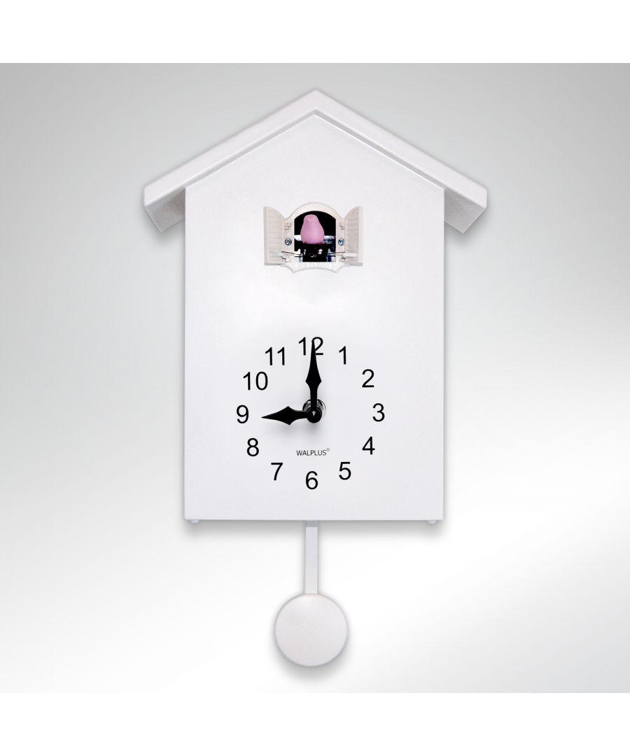 Image for WC2087 - Walplus White Cuckoo Clock - White Window