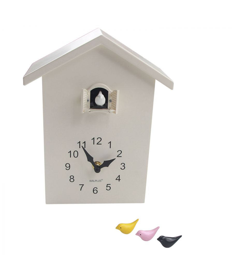 Image for WC2087T - Walplus White Cuckoo Table Clock - White Window