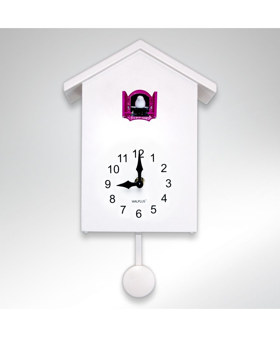 Image for WC2090 - Walplus White Cuckoo Clock - Pink Window