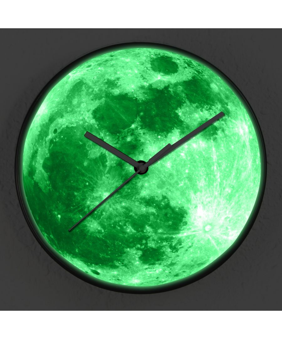 Image for WC2091 - Glow in dark Moon Wall Clock