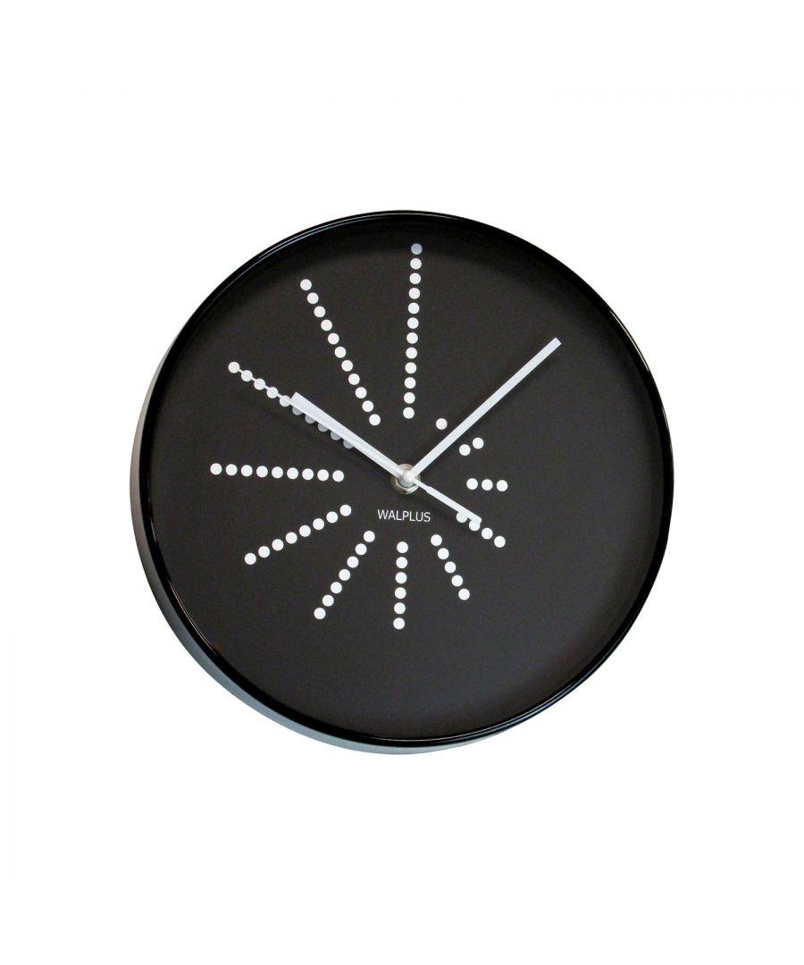 Image for WC2120 - Black Walplus Clock Minimalistic Dots Design