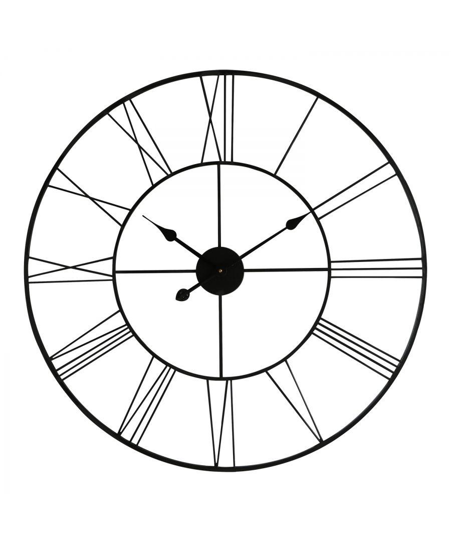 Image for WC2126 - Walplus Minimalist Slim Iron Wall Clock 76cm