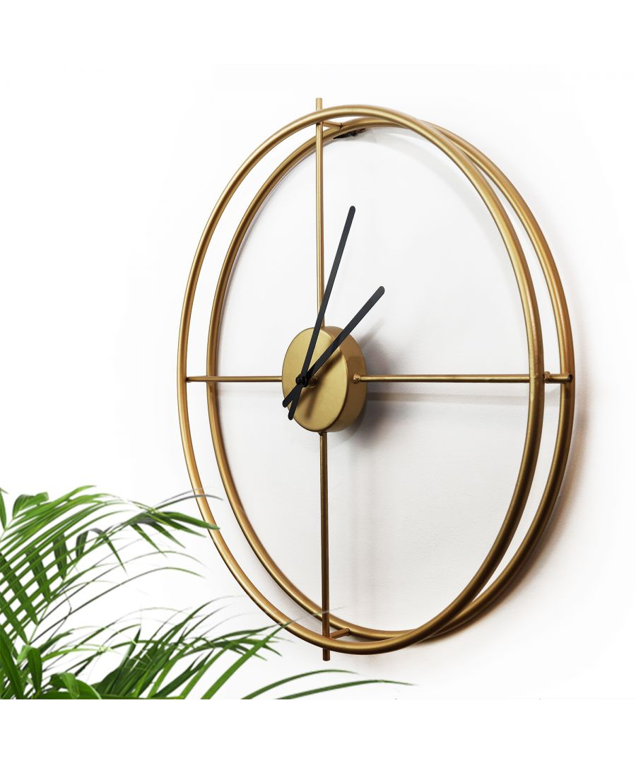 Image for WC2137 - Larry's Minimalist 50cm Iron Wall Clock (Gold)