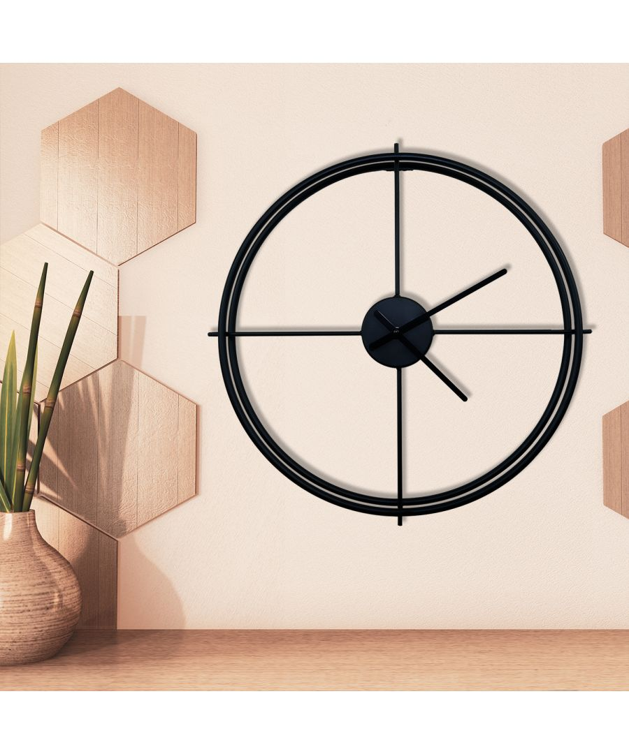 Image for WC2138 - Larry's Minimalist 50cm Iron Wall Clock (Black)