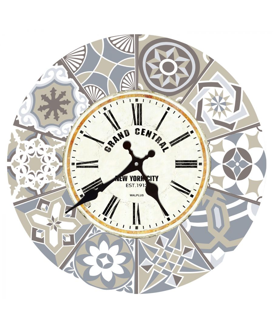 Image for Limestone Spanish Tiles Wall Clock, DIY Art, Kitchen Decorations, Bedroom, Home Design, House Décor, Living room ideas