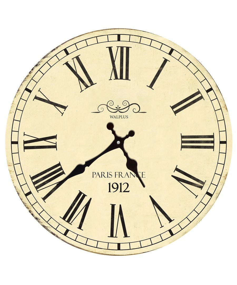 Image for Vintage France Roman Numeral Wall Clock, DIY Art, Kitchen Decorations, Bedroom, Home Design, House Décor, Living room ideas