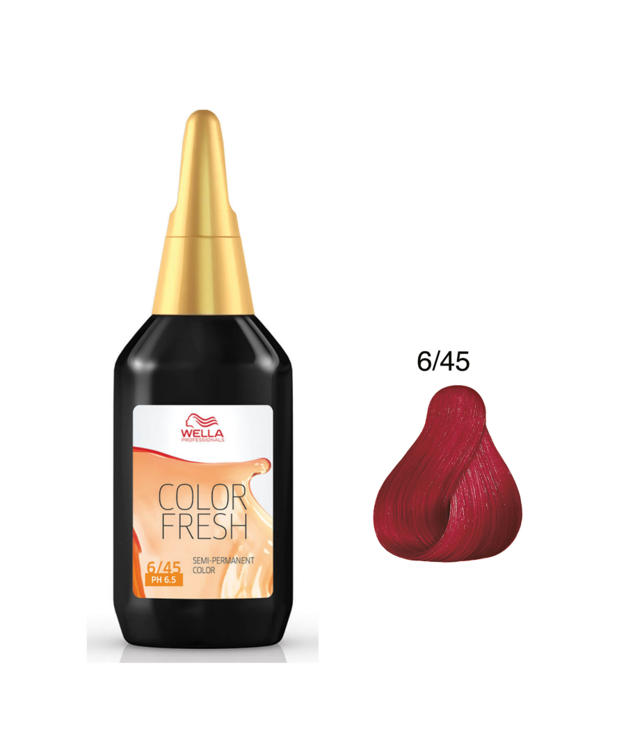 Image for Wella Color Fresh Toning - 6/45 Dark Blonde Red Mahogany 75ml