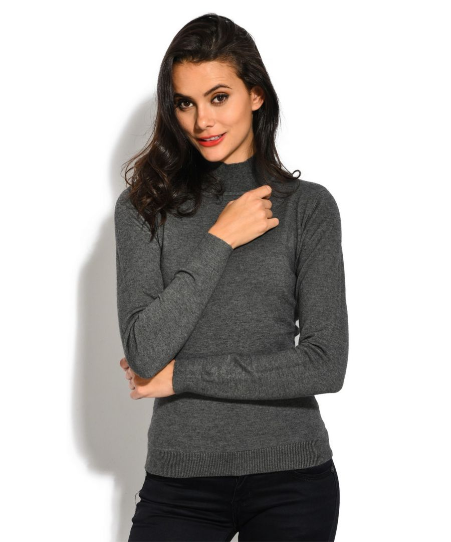 Image for William De Faye Funnel Neck Long Sleeve Sweater in Grey