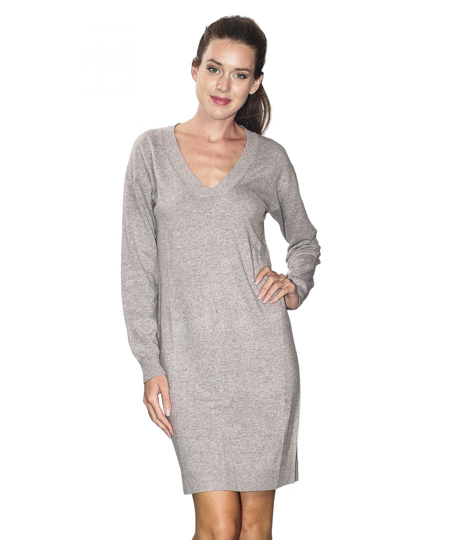 Image for William De Faye V-neck Crossover Dress in Beige