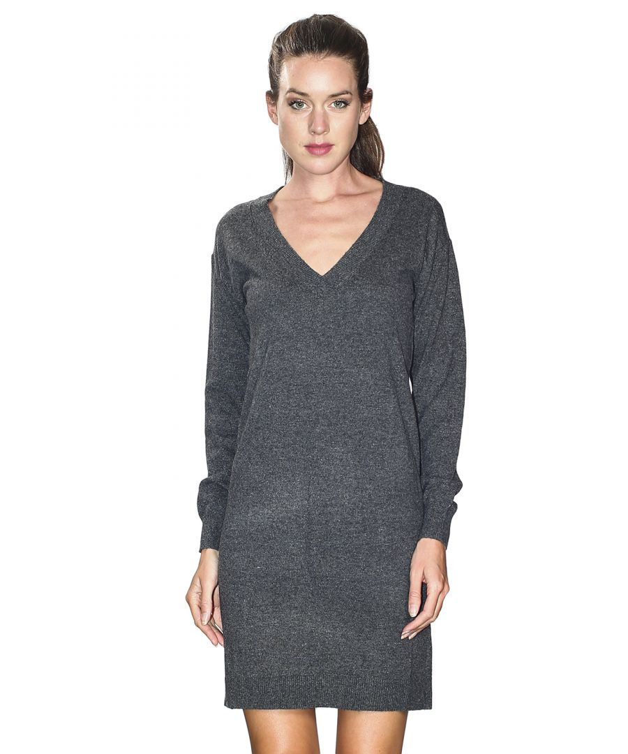 Image for William De Faye V-neck Crossover Dress in Grey