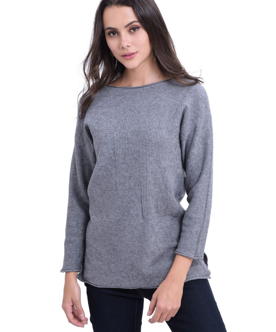 Image for William De Faye Round Neck Tunic in Grey