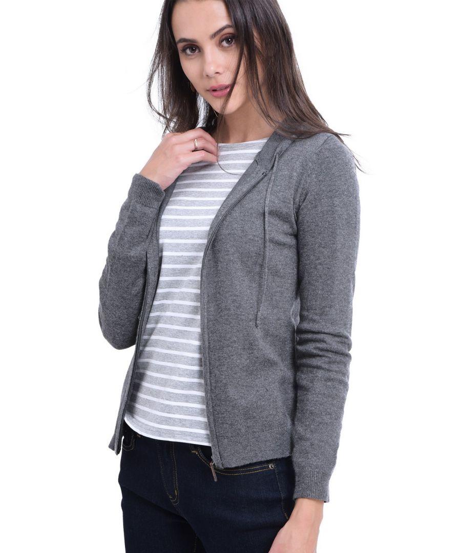 Image for William De Faye Hooded Zip-up Cardigan in Grey