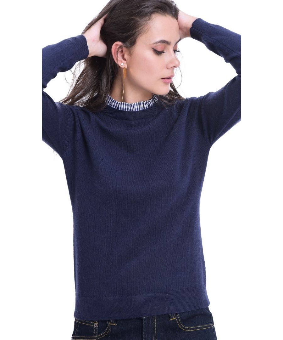 Image for William De Faye High Neck Sweater in Navy