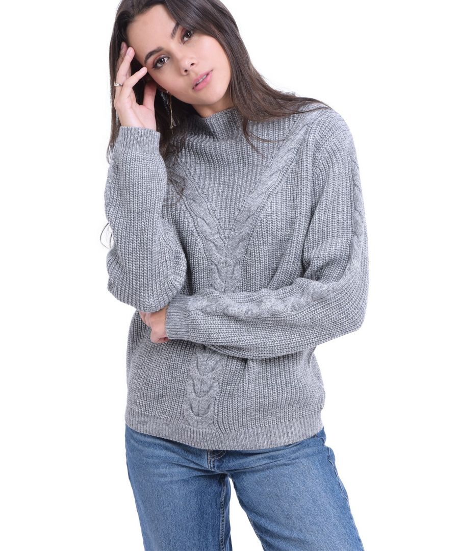 Image for William De Faye Rollneck Twisted Yarn Sweater in Grey
