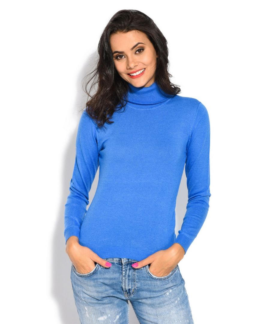Image for William De Faye Rollneck Long Sleeve Sweater in Blue